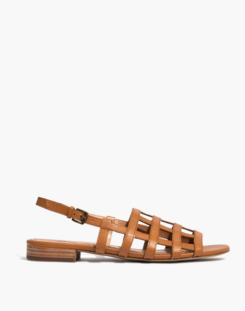 The Rowan Cage Sandal in amber brown image 3