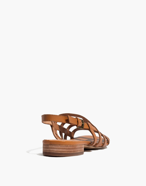 The Rowan Cage Sandal in amber brown image 4