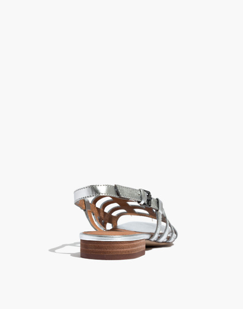 The Rowan Cage Sandal in Metallic in silver metallic image 4