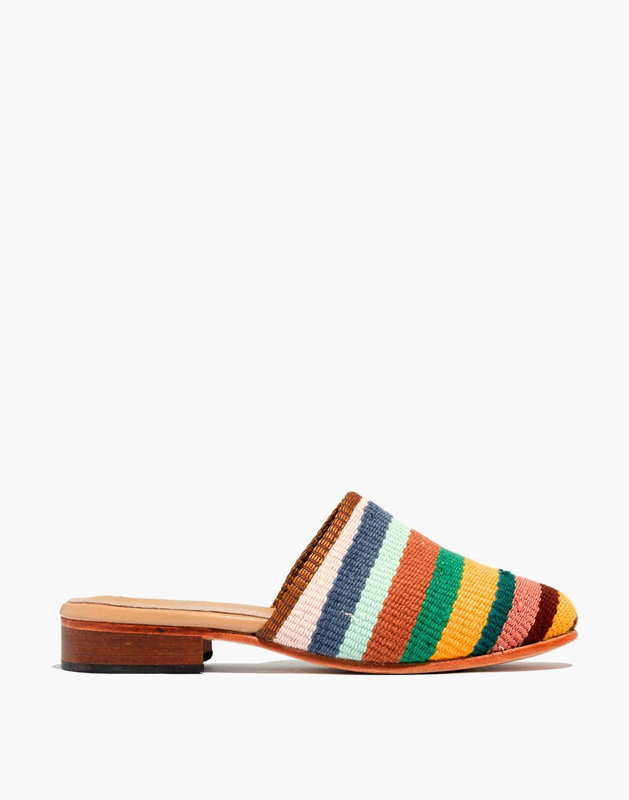 Artemis Design Co. Kilim Slides in bright stripes image 2