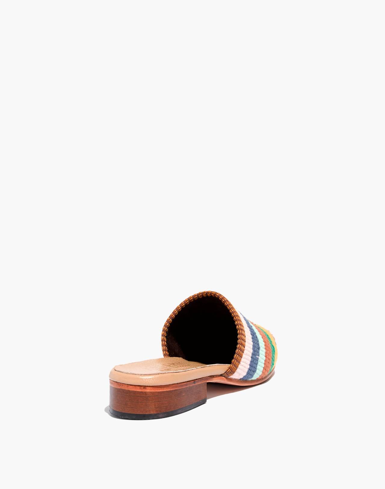 Artemis Design Co. Kilim Slides in bright stripes image 3