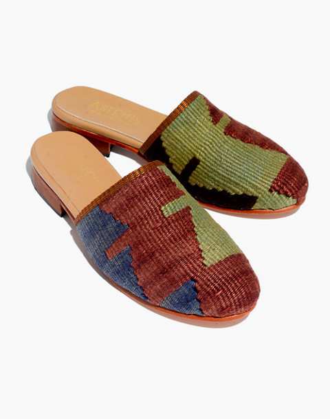 Artemis Design Co. Kilim Slides in geometric kilim image 1