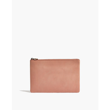 The Leather Pouch Clutch in Vachetta