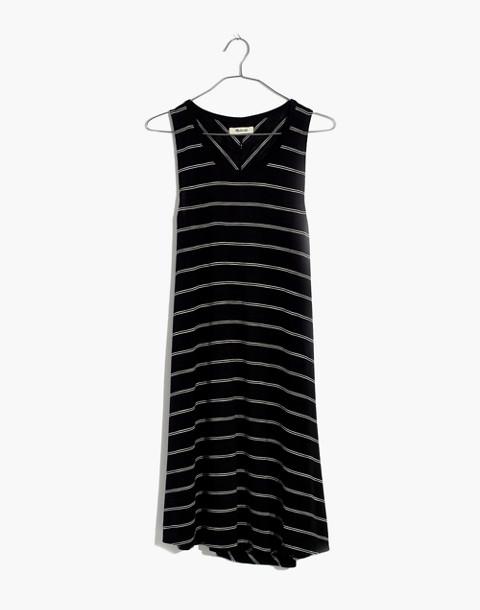 Highpoint Tank Dress in Hosta Stripe in true black image 4