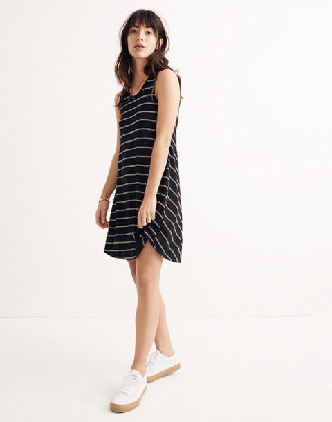 Highpoint Tank Dress in Hosta Stripe in true black image 1
