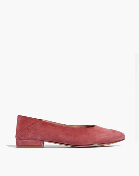 The Sophia Fold-Down Flat in Suede in antique rose image 3