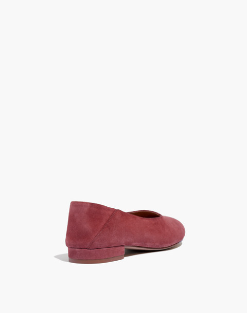 The Sophia Fold-Down Flat in Suede in antique rose image 4