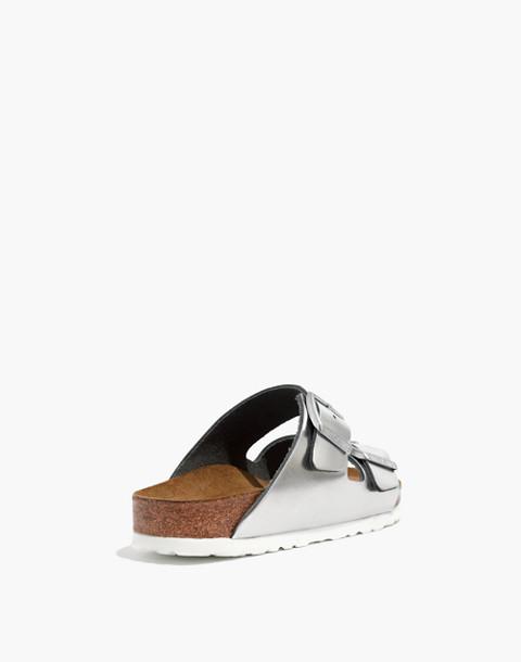 Birkenstock® Arizona Sandals in Silver Leather in silver image 4