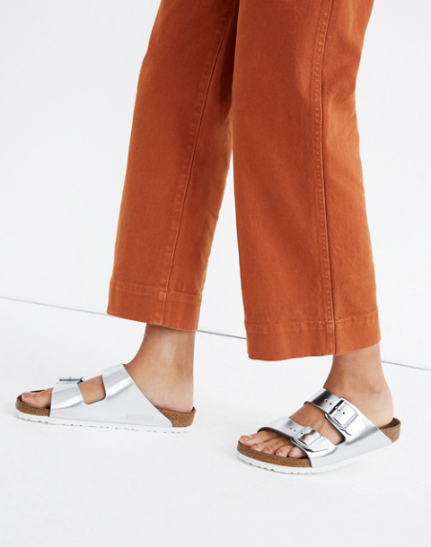 Birkenstock® Arizona Sandals in Silver Leather in silver image 2