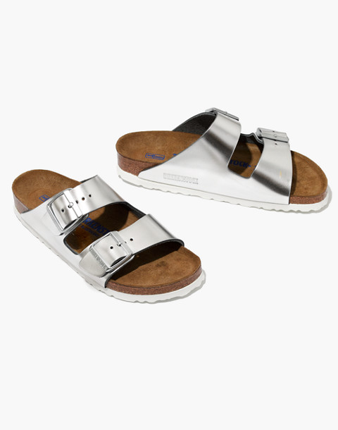 Birkenstock® Arizona Sandals in Leather in silver image 1