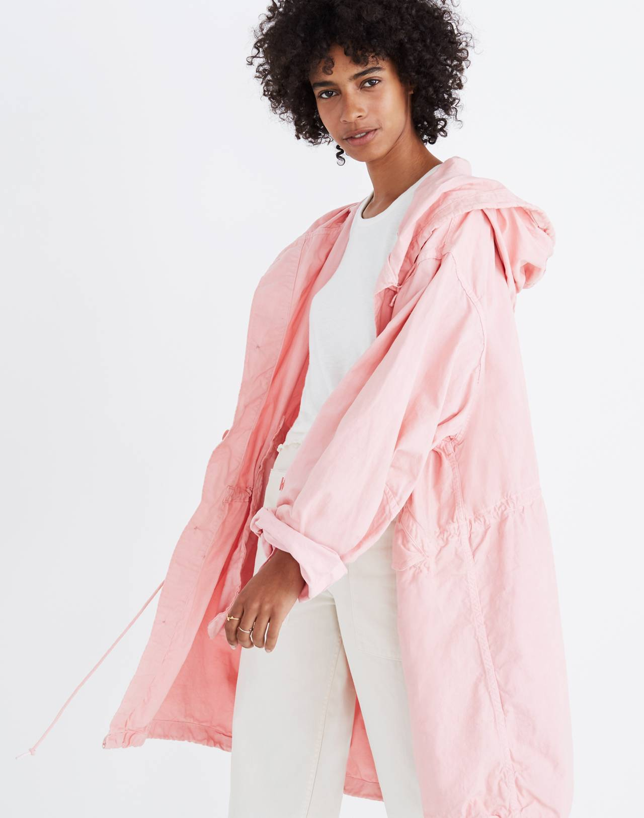 Madewell x As Ever™ Vintage Fishtail Parka in pink image 2