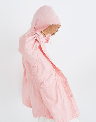 Madewell x As Ever™ Vintage Fishtail Parka in pink image 3