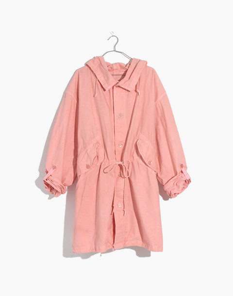 Madewell x As Ever™ Vintage Fishtail Parka in pink image 4