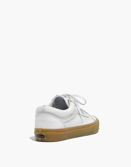 7d2068e368a7 Madewell x Vans reg  Unisex Old Skool Lace-Up Sneakers in Tumbled Leather  in white