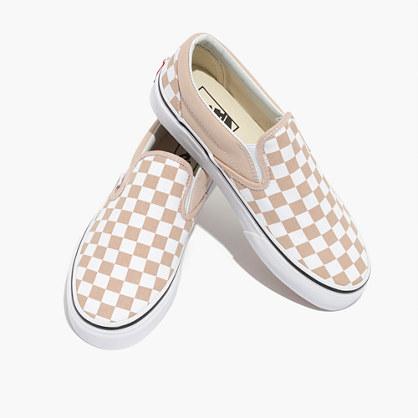 vans checkerboard beige