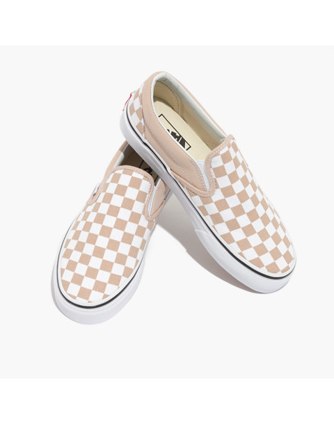 31dbfe111f1f0f Vans® Unisex Classic Slip-On Sneakers in Checkerboard Canvas