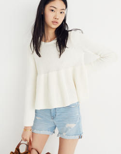 Swingy Ribbed Pullover Sweater