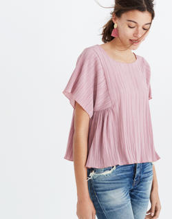 Texture & Thread Micropleat Top