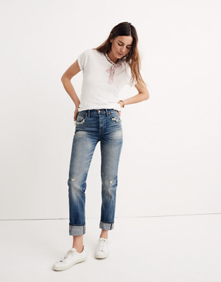 Straight-Leg Jeans in Cloverdale: Selvedge Edition in cloverdale wash image 2