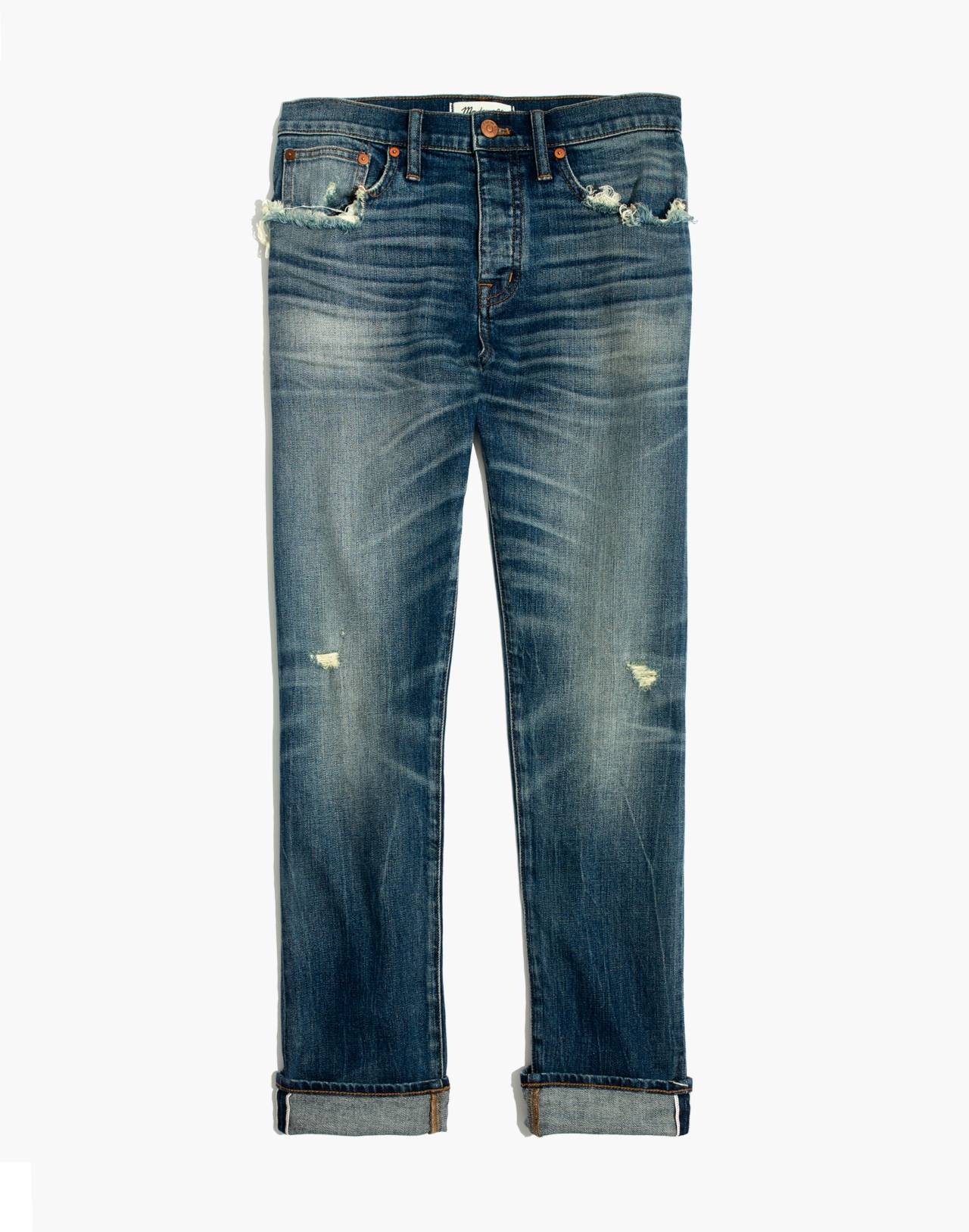 Straight-Leg Jeans in Cloverdale: Selvedge Edition in cloverdale wash image 4