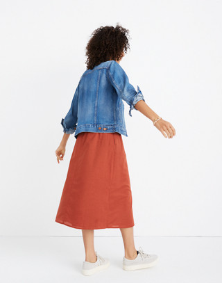 Palisade Button-Front Midi Skirt in rusty torch image 3