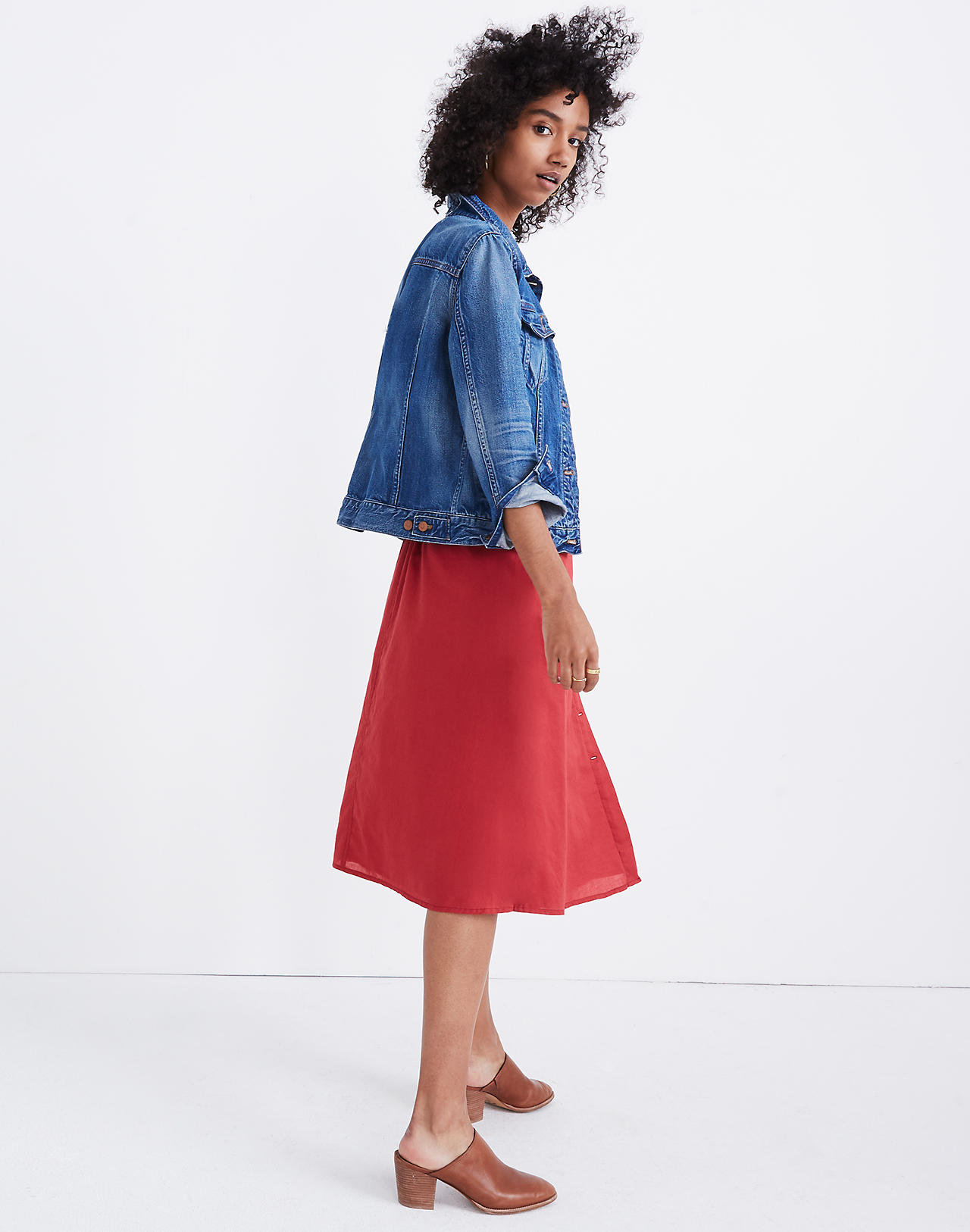 43d62efad Palisade Button Front Midi Skirt