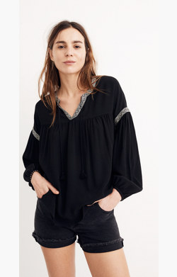 Blouson-Sleeve Top