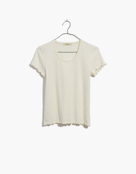 Baby Tee in bright ivory image 4