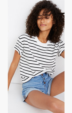 Easy Crop Tee in Wanda Stripe