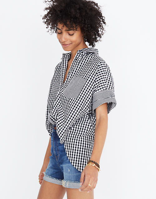 7c4efe0564a Gingham-Play Button-Down Shirt in null image 1