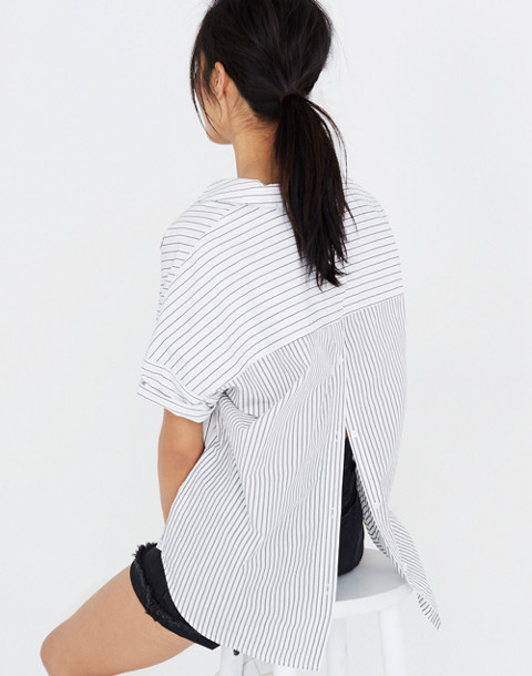 Courier Button-Back Shirt in Stripe-Play