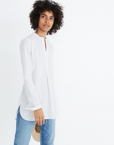 Wellspring Tunic Popover Shirt in Stripe in liam white wash image 2