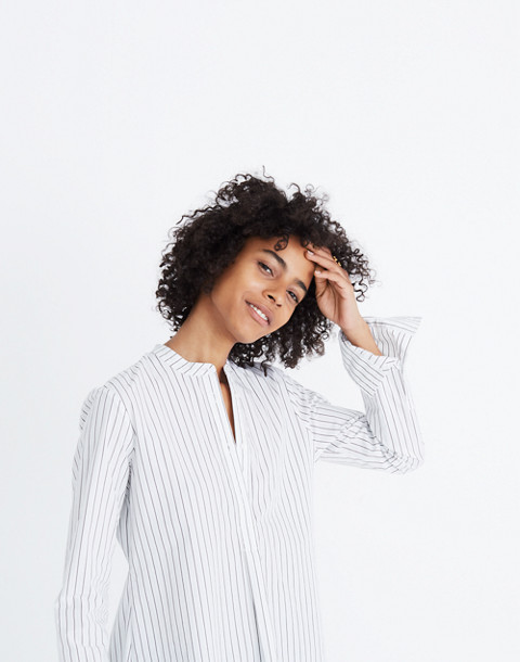 Wellspring Tunic Popover Shirt in Stripe in liam white wash image 3