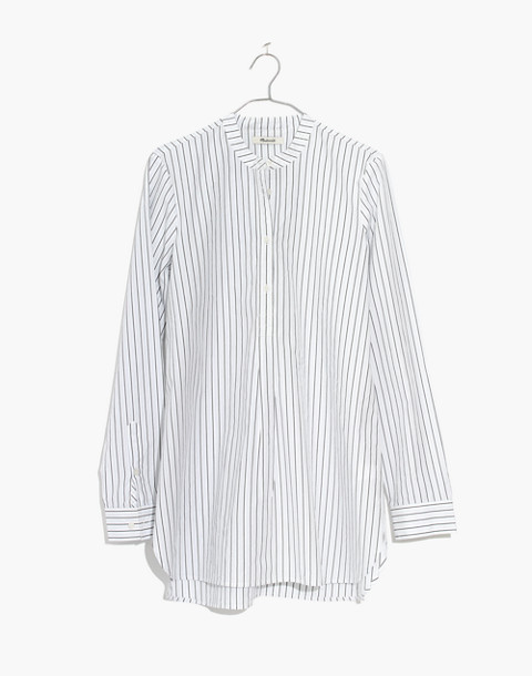 Wellspring Tunic Popover Shirt in Stripe in liam white wash image 4