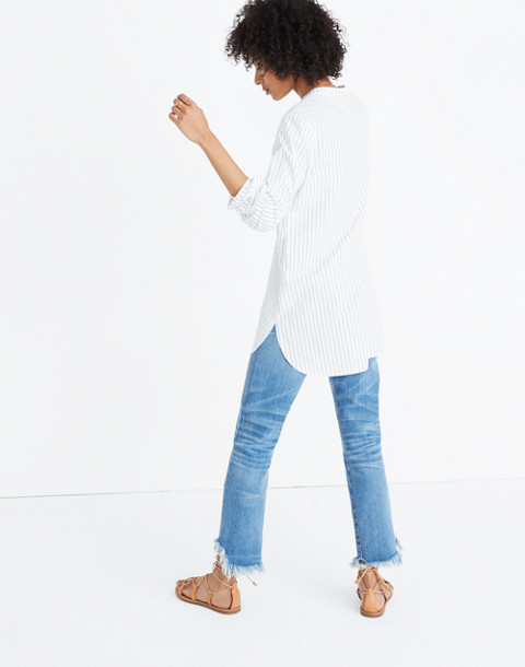 Wellspring Tunic Popover Shirt in Stripe in liam white wash image 1