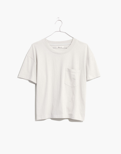 Easy Crop Tee in bright ivory image 4