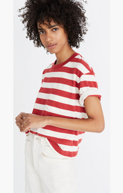 Easy Crop Tee in Murph Stripe