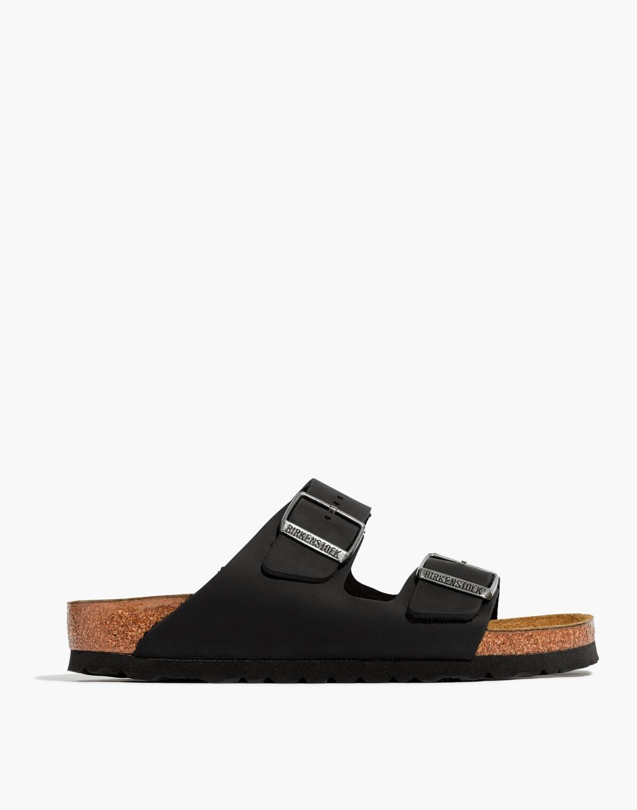 Birkenstock® Arizona Sandals in Black Leather in true black image 3