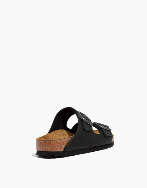 Birkenstock® Arizona Sandals in Black Leather in true black image 4