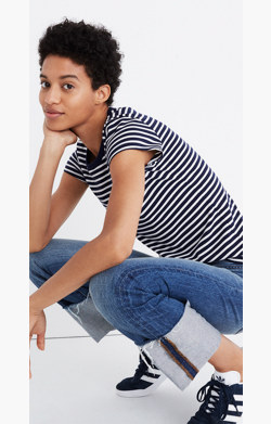 Rivet & Thread Vintage Shrunken Tee in Stripe
