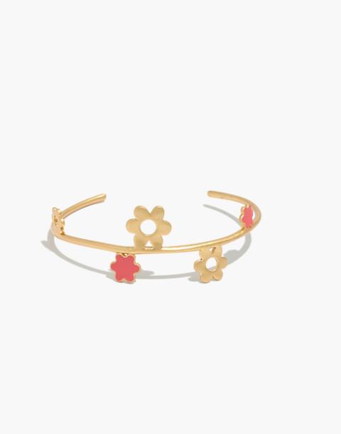 Daisy Cuff Bracelet in coastal orange image 1
