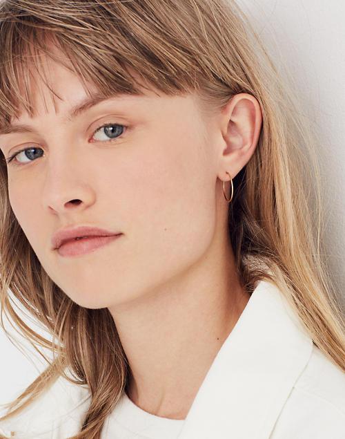 33447b33ca3417 14k Gold Filled Hoop Earrings Madewell - Best All Earring Photos ...