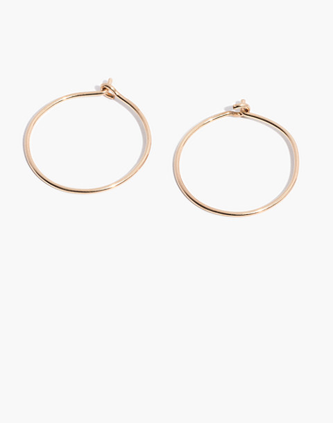 14k Gold Filled Hoop Earrings In Fill Image 1