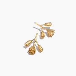 Flower Bud Drop Earrings