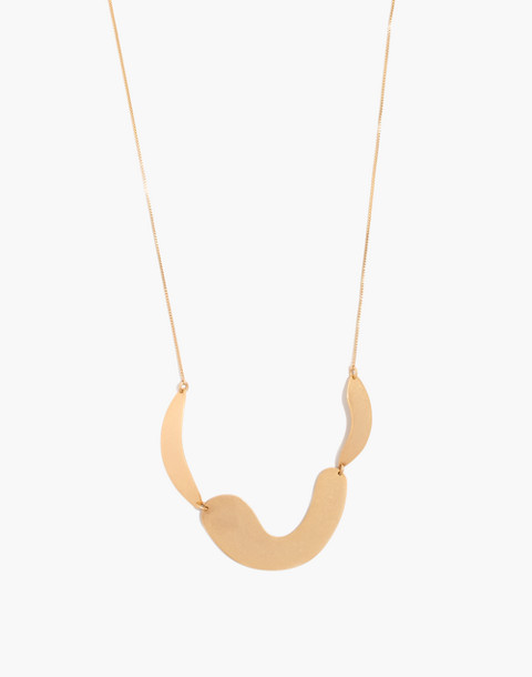 Modform Necklace in gold ox image 1