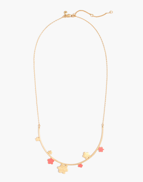 Daisy Bar Necklace in coastal orange image 2