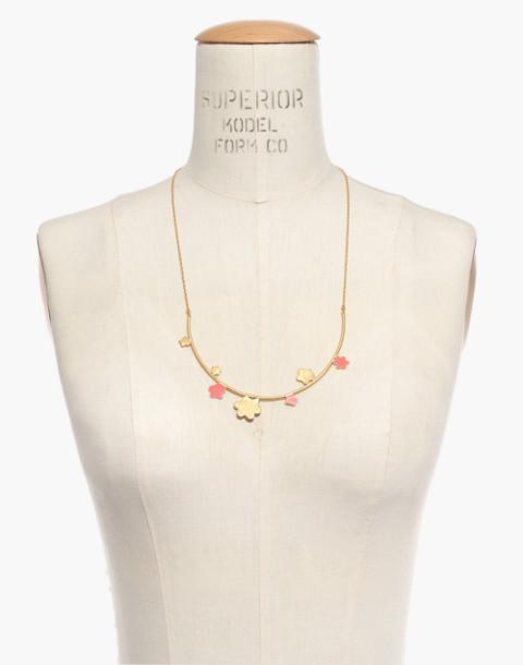Daisy Bar Necklace in coastal orange image 3