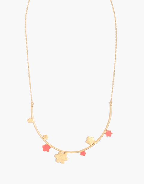 Daisy Bar Necklace in coastal orange image 1