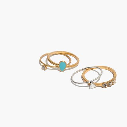 Enamel Ring Set