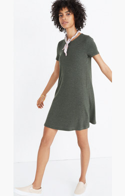 Ribbed Swingy Tee Dress